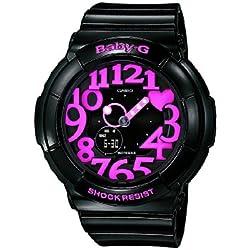 Casio Baby-G - Reloj analógico - digital de mujer de cuarzo con correa de resina negra (alarma, cronómetro, luz) - sumergible a 100 metros