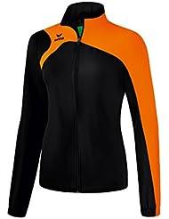 Erima Club 1900Mujer 2.0Chaqueta de presentación, todo el año, mujer, color negro / naranja, tamaño 46