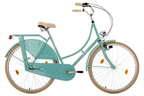 KS Cycling Damen Fahrrad Hollandrad Tussaud 3 Gänge RH 54 cm, mint, 28 Zoll, 325H