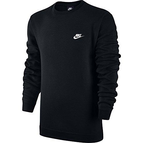 Nike M Nsw Crw Flc Club, Felpa Uomo, Nero (Nero/Bianco), XL