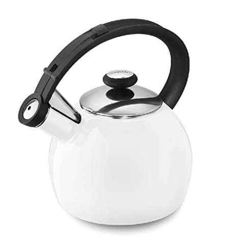 Cuisinart CTK-EOS1W Omni Porcelain Enamel on Steel Tea Kettle, White