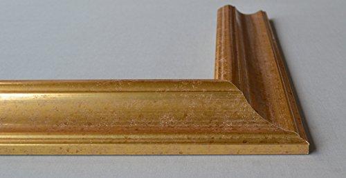 Bilderrahmen Athen - Gold 36x48 cm 48x36 cm hier mit entspiegeltem Plexiglas
