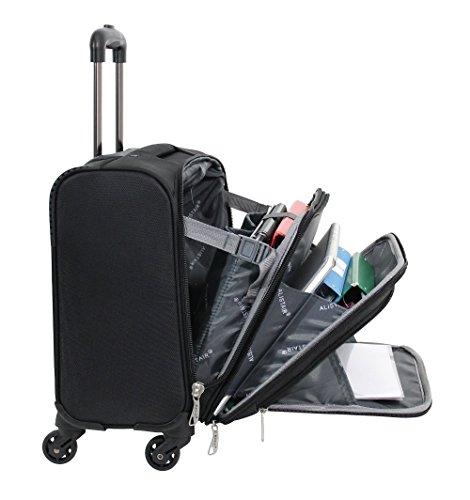 Pilot Case – Tamaño de cabina Bolsa de viaje Alistair Airo – Ultra Light – lona de nylon – 4 Ruedas – Negro