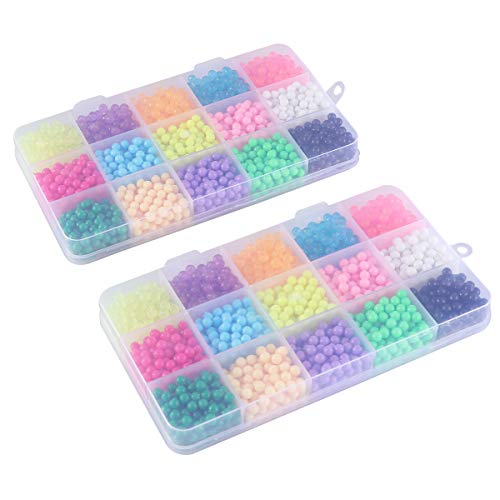 Toyvian Melty Beads Ironing Fuse Beads Kit Refill Bead with Pegboards for Kids DIY