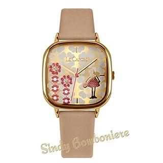 Sindy Bomboniere Vintage Clock Amarcord Le Leather Gift Fashion + Pack + Warranty beige
