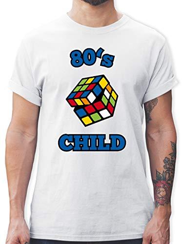 Statement Shirts - 80's Child - Zauberwürfel - S - Weiß - L190 - Herren T-Shirt und Männer Tshirt
