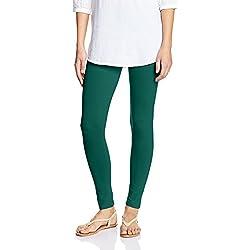 Myx Women's Cotton Stretch Leggings (AW16LEG01H_Bottle Green_Small)