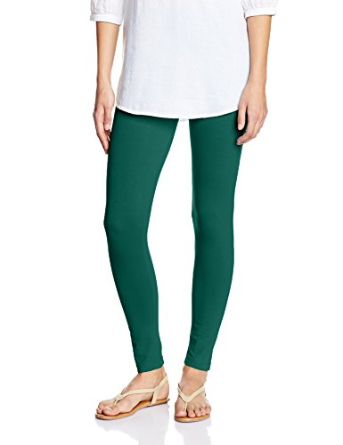 Myx Women's Cotton Stretch Leggings (AW16LEG01H_Bottle Green_Small)