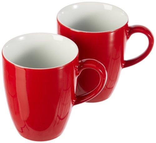 KAHLA 57C136A60005C Kaffeebecher-Set 2-teilig Pronto, rot
