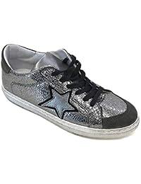 brand new 73d37 1fcef In My Shoes InMyShoes Art. 18210 CP 039 Scarpe Sneaker Piombo Grigionero  in Pelle
