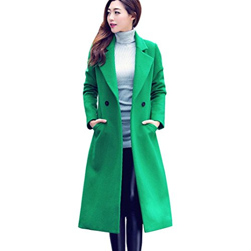 ee1544d43f ... Winter Spring Sexy Woolen Cardigan Hoodies Overcoat Fashion Button Long  Parka Plus Size Casual Slim Fit Thicken Warm Down Outerwear Jacket For  Women (L