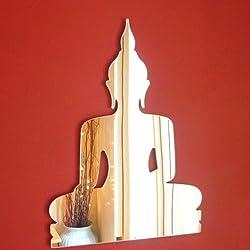 ServeWell Mini Deko Buddha Wand Spiegel–Paket von Zehn