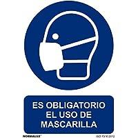 Normaluz RD20026 - Señal Es Obligatorio El Uso de Mascarilla  PVC Glasspack 0,7mm 21x30 cm