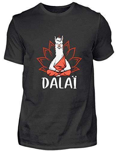 Kostüm Dalai Lama - EBENBLATT Dalai Lama Yoga Meditation Geschenk - Herren Premiumshirt -XXL-Schwarz