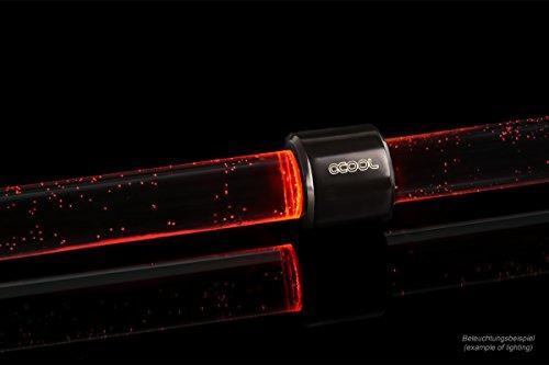 Alphacool Aurora HardTube LED Ring 13mm Deep Black - Rot LED-Streifen, schwarz -