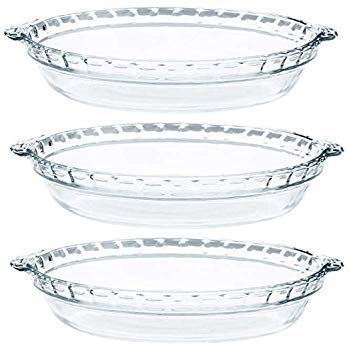 Pyrex - Glas Pie Teller - 3 Pack (9,5 inchex X 3,8 cm) Pie Pan Fall