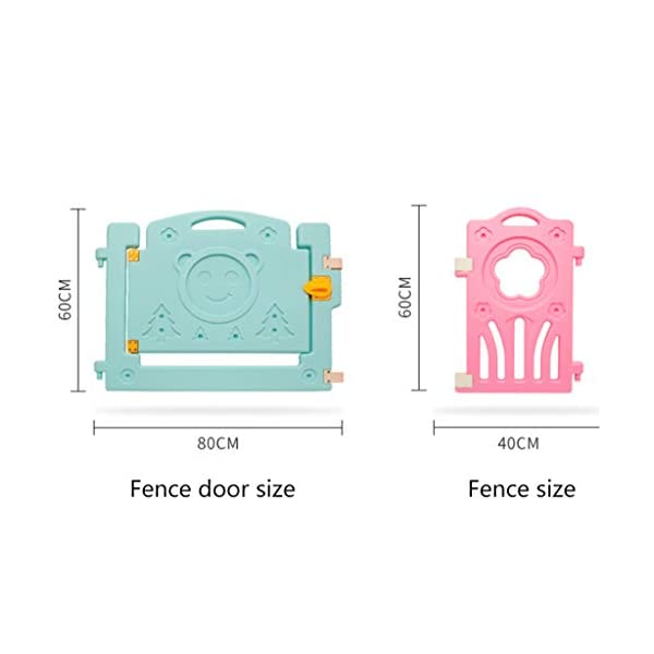 LIUFS-Playpens Children's Fence Game Safety Entertainment Center Indoor And Outdoor (Size : Package D) LIUFS-Playpens - The fence is specially designed with a rubber base underneath, which can be firmly fixed to the floor and will not be pushed or towed by children. - Non-toxic, non-circulating high density polyethylene material without any odor. Over the years, molding technology has made the structure more durable and durable. Any form of manual deburring can prevent your baby from getting hurt. - The height of the fence is long enough to stand and walk, and each set has different game toys for children to play. 4