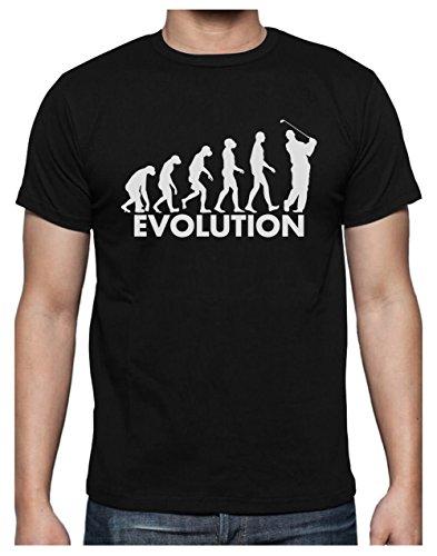 Golf Evolution - Humour pour Golfeur Fêtes des Pères T-Shirt Homme X-Large Noir