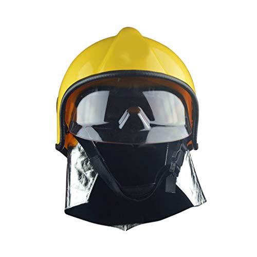 MXZ Casco Antincendio, Pompiere Casco Protettivo Salvataggio Cappello Rigido, Occhiali per Maschere Resistenti alle Alte Temperature