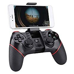 Bluetooth Gamecontroller, Handy Wireless Joystick Gamepad für iOS Android-Handy Smartphone Tablet Smart TV Set-Top-Box PC PS3-Spielekonsole für Android/iOS/Win 7/8/10