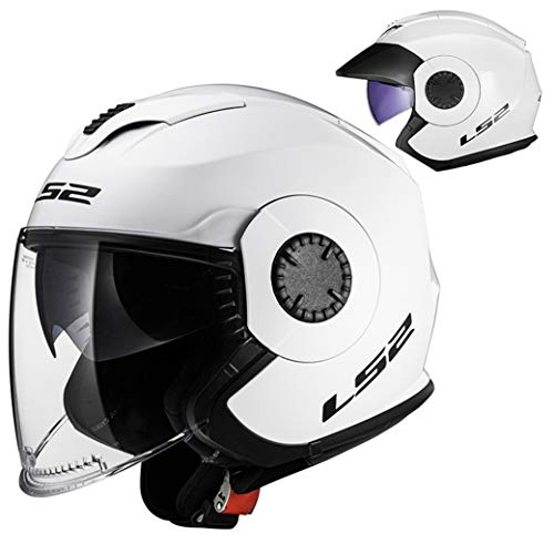 Unisex Motorradhelm Anti Schweißfutter Abnehmbare Doppelscheibe Motorradhelme