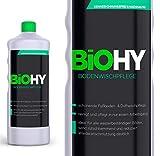 BIOHY Bodenreiniger 12er Pack (12x1Liter) Konzentrat für Fließen/PVC/Laminat, Hartbodenreiniger, Glanzreiniger, Duftwischpflege, Grundreiniger Boden, Profi Bio-Reiniger - Bio Reinigungsmittel