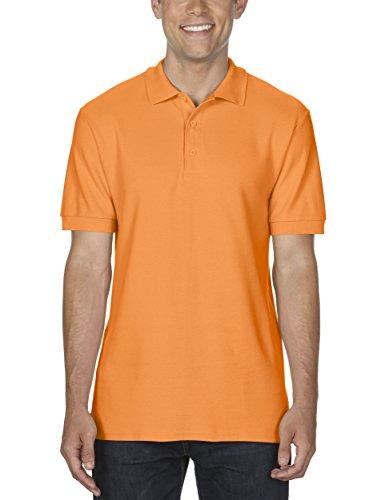GILDAN Herren Poloshirt Adult Premium Cotton Double Piqué Polo/85800, Einfarbig Orange (Tangerine 35)