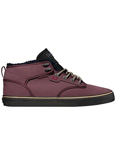 Globe Motley Mid, Chaussures de skateboard homme coloris aubergine/noir fourrure