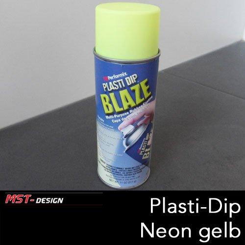 Preisvergleich Produktbild Performix PLASTI DIP® Flüssiggummi Spray Felgenfolie Gummi gelb blaze neon yellow 325 ml (1 Liter = 81,82 Euro)