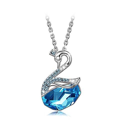 LADY COLOUR - Princesa Cisne - Collar mujer con cristales de SWAROVSKI® - la coleccion Nature