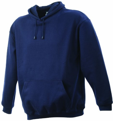 James & Nicholson Sweatshirt Hooded Sweat-Felpa Uomo-Donna Blu (navy)