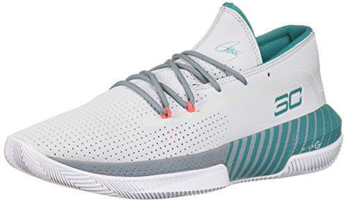 Under Armour Sc 3zer0 Iii, Herren Basketball, Grau (Halo Gray/Ash Gray/Teal Rush (101) 101), 44 EU