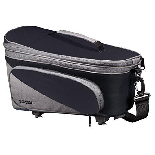 Racktime Talis Plus Fahrrad Gepäckträgertasche erweiterbar - 15 Liter Schwarz