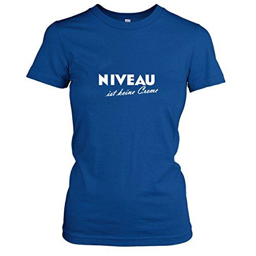 TEXLAB - Niveau ist keine Creme - Damen T-Shirt, Größe S, marine (Marine-freundin-t-shirt)