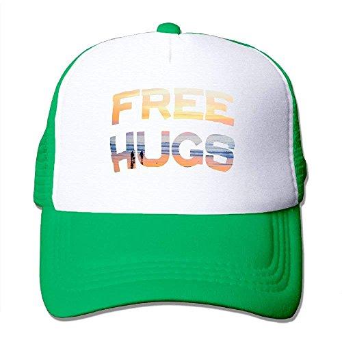 6862ccf5151 NM4554 Adjustable Mesh Caps Free Hugs Unisex Outdoor Snapback Trucker Hats  Black