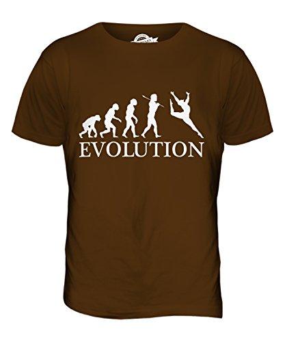 CandyMix Gerätturnen Evolution Des Menschen Herren T Shirt Braun