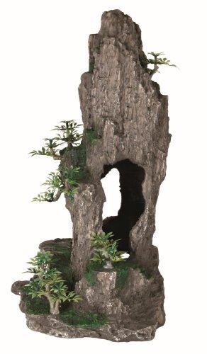 Trixie 8858 Felsen mit Höhle/Pflanzen, stehend, 37 cm