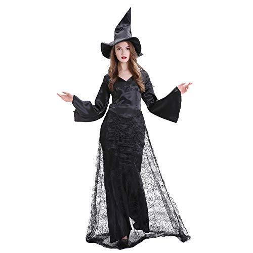 Erwachsene Classic Kostüm Hexe Für - OLKWG Halloween Hexe Kostüm Classic Black Hexe Sexy Hexe Kostüm,XL