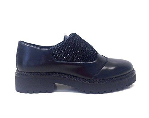 APEPAZZA-INES-YLE01-scarpe-donna-stile-inglese-mocassino-perlinetacco-basso-37-EU