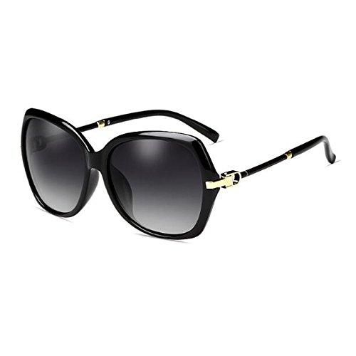 Moolo HLMMM Sunglasses Female Polarized UV UVA UVB Round Face Retro Box Travel Long Face Sunglasses Tide Elegant Glasses