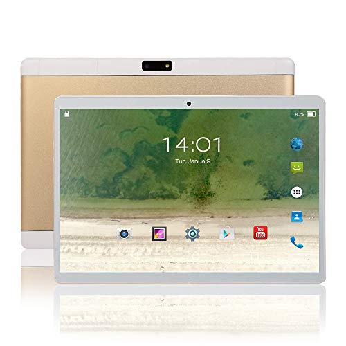 Tablette Tactile Ecran 10.1 Pouces 4G WiFi Android Doule SIM Double Caméras 2GB+16GB,Blanc TEENO (Or)