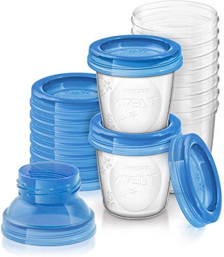 Philips Avent SCF618/10 set di vasetti per conservare il latte materno e le pappe da 180ml