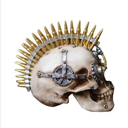 XJYA Menschliche Anatomie - Steckschädelmodell Schädel-Modell Harz Dekoration Terroristische Requisiten Zuhause Tischdekoration & Geschenk Halloween Dekoration