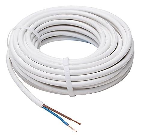Kopp Schlauch-Leitung 2 adrig, H03 VV-F 2G0,75mm² (10m) für flexible