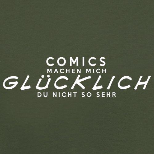 Comics machen mich glücklich - Herren T-Shirt - 13 Farben Olivgrün