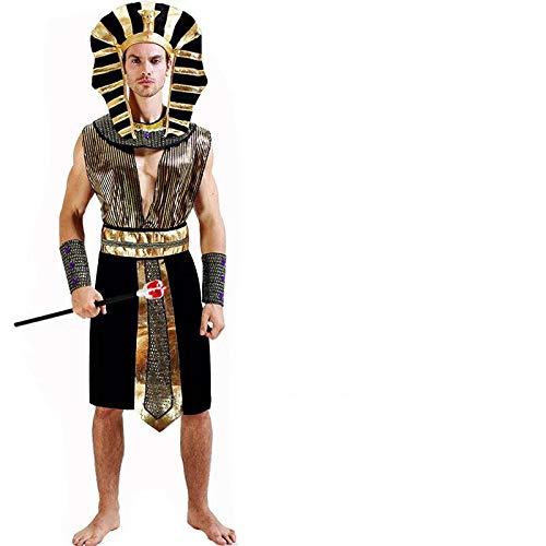 thematys Pharao Ägypten Kostüm-Set für Herren - perfekt für Fasching, Karneval & Cosplay - Einheitsgröße 160-180cm (Style 1)