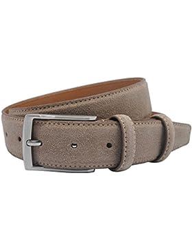 Cinturón de cuero de ante Cinturón de hombres ocasionales hebilla cinturón con 34 mm de ancho