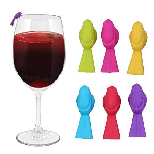 Beito 6pcs Wein Charme Hummingbird Glas Marker Ungewöhnliches Weinglas Identifiers Multicolor