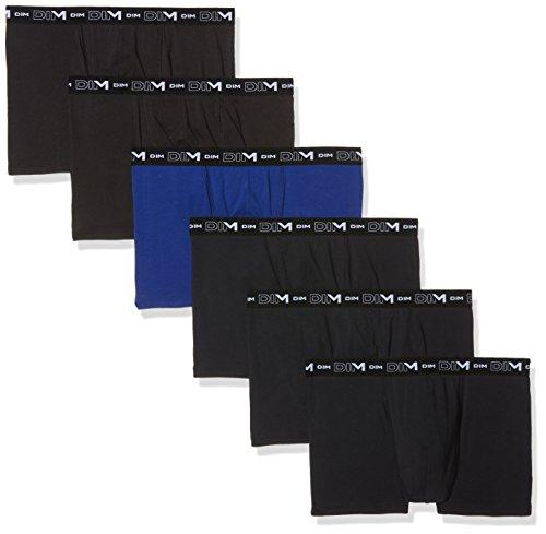 Dim Coton Stretch Boxer X6, Homme, Multicolore Bleu Indigo Noir 78v, XX-Large (Taille Fabricant: 6) (Lot de 6)