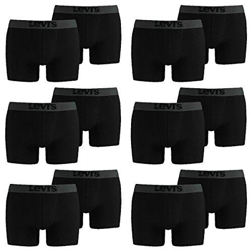 LEVIS Herren Boxer Brief 200SF - 6x2 paar Shorts (12er Pack) 884 - jet black